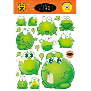 Frogs Bright Green